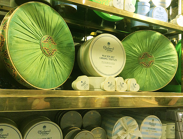 Harrods Chocolate Hall Charbonnel et Walker Sea Salt Caramel Luxury Shot Silk Chocolate Box Display