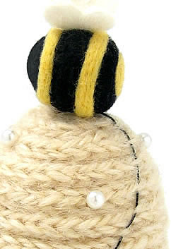 Liberty of London Beehive French Knitted Pincushion