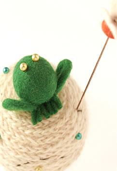 Liberty of London Frog French Knitted Pincushion