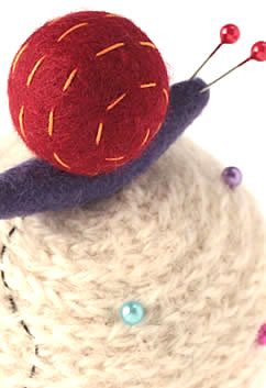 Liberty of London Snail French Knitted Pincushion