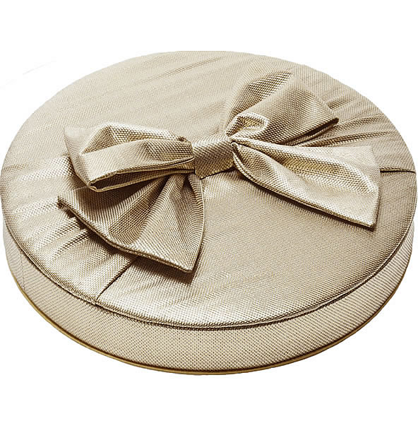 Charbonnel et Walker Large Gold Silk Bow Couture Silk Chocolate Box